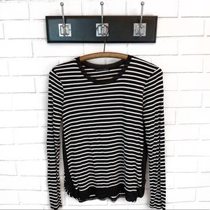 Zara • Striped Jersey Top